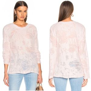 IRO Anile Destroyed Sweater in Pink Sand